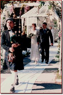 George Baldrose piping for garden recessional
